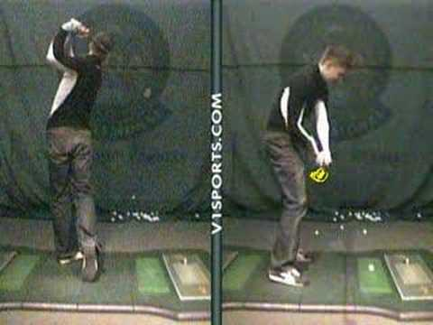 Justin's lesson at Golf Galaxy