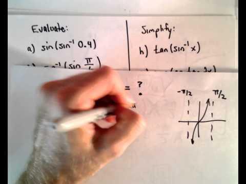 Arkusfunktionen, Teil 2 (Auswertung inversen trigonometrischen Funktionen)