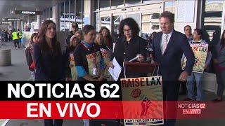 Trabajadores entablan demanda en LAX – Noticias 62 - Thumbnail