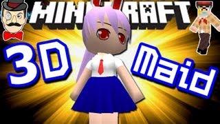 Minecraft EPIC 3D ANIME MAID ! Amazing Mod !