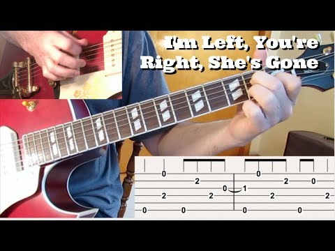 I'm Left, You're Right, She's Gone solo lesson with Tabs  by Tom Conlon