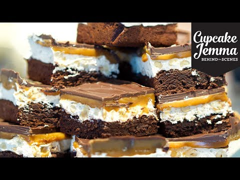 SNICKERS BROWNIE Behind The Scenes at C&D | Cupcake Jemma