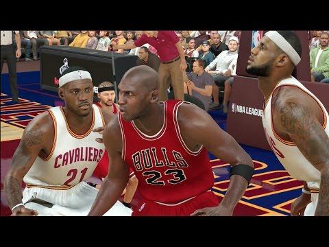 Who Would Win Between 3 Giant Lebron James And 3 Giant Michael Jordan? NBA 2K17 Challenge