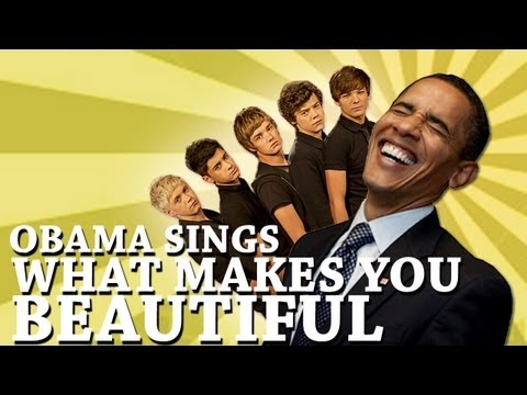 Barack Obama Sings What Makes You Beautiful by One Direction