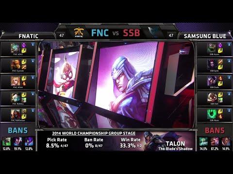 samsung - D4G4 Fnatic vs Samsung Blue LOL S4 Worlds G2 return match | SSB vs FNC Round 2 Game 2 | Fnatic vs Samsung Blue G2 Group C #worlds Next match of the day - Cloud 9 vs NaJin White Shield Game...