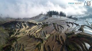 The beautiful YuanYang 元阳 rice terraces in YunNan province