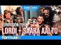 Eurovisión 2018: Lordi y Saara Aalto sorprenden en la sala de prensa