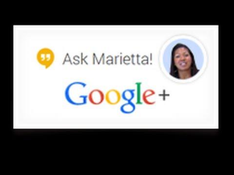Ask Marietta Live Google Hangout