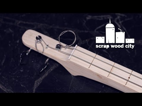 How to make a DIY fretless electric bass guitar
