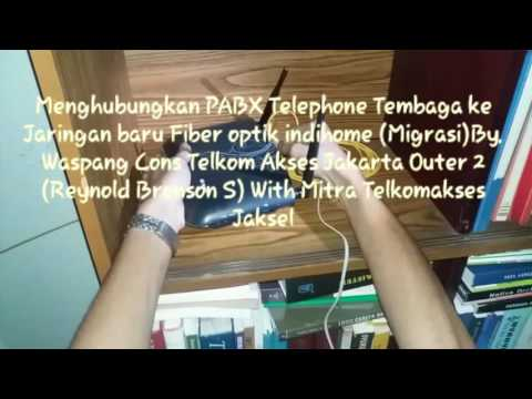 Migrasi Telephone ONT Indihome Fiber To Jaringan PABX (Live Tutorial At Costumer Home)