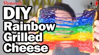 DIY Rainbow Grilled Cheese - Pinterest Test - Man Vs Pin #96 by ThreadBanger