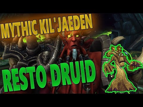 Twitch - Resto Druid Solo MYTHIC KIL'JAEDEN (Shadow Intermission Stage) - Fun Clip