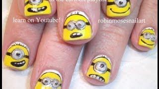 despicable me Despicable Me Nails - Minion Nail Art