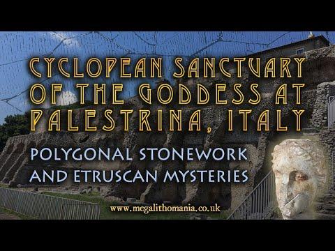 Cyclopean Sanctuary of the Goddess at Palestrina, Italy | Polygonal Stonework & Etrus… видео