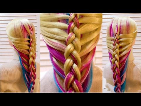 Красивые прически с плетением в школу