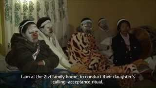 A celebrated Xhosa sangoma (traditional healer) from Quunu in the Eastern Cape visits a nearby village to preside over the initiation of a young woman into the ...