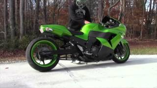 6. 2008-2011 Kawasaki ZX14  Voodoo Exhaust (Motorcycle Video)
