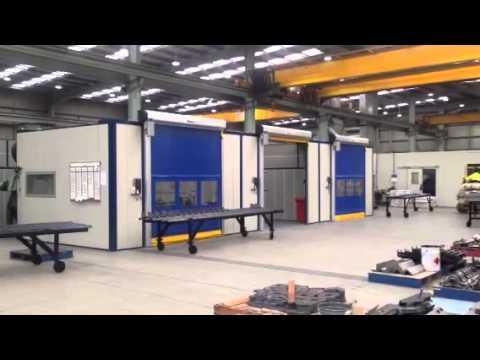 Flexshield soundproof welding and grinding bays