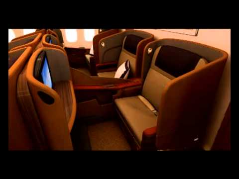 Singapore Airlines First Class on the Boeing 777-300 fleet (видео)