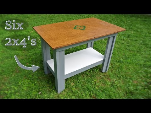 Woodworking table - T-leg workbench design & build (½ hour special!)