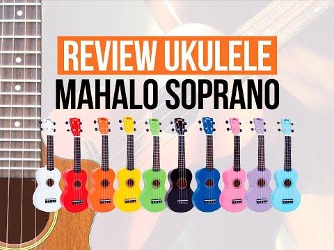 Review Ukulele Mahalo Rainbow Series MR1BU Soprano