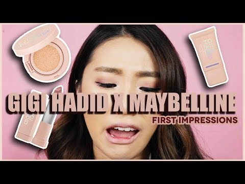 GIGI HADID X MAYBELLINE REVIEW + FIRST IMPRESSIONS + TRY ON