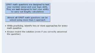 GMAT Prep - General GMAT Math Strategies