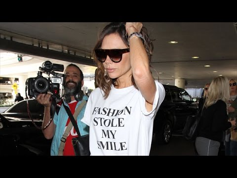 Victoria Beckham Making Fashion Statements At LAX