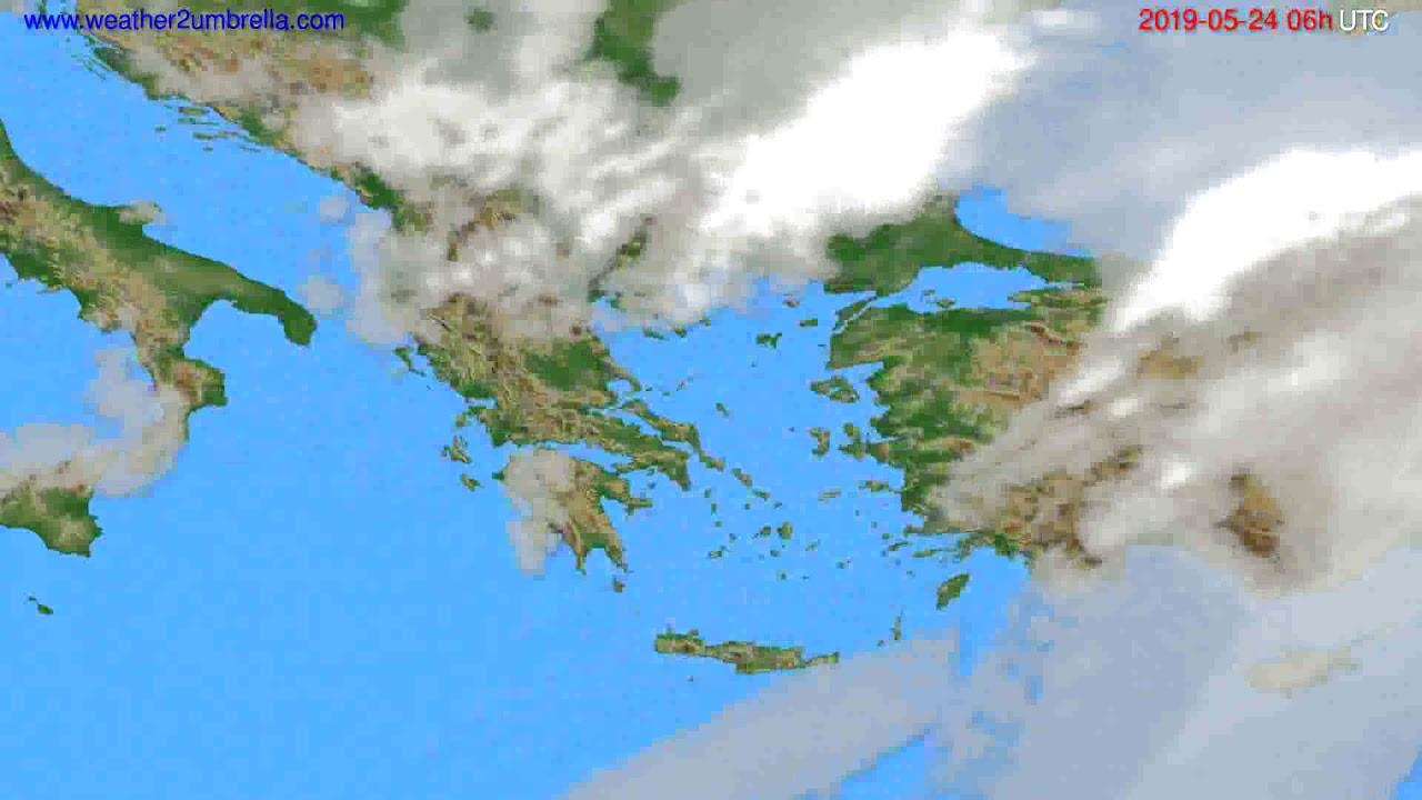 Cloud forecast Greece // modelrun: 00h UTC 2019-05-22