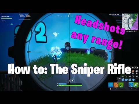 How to Aim the Sniper Rifle - Mastering Bullet Drop   Fortnite Tutorial