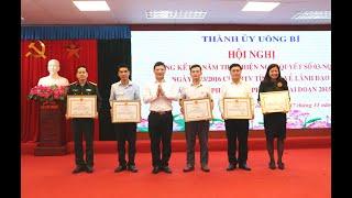 Thành ủy Uông Bí: Tổng kết 5 năm thực hiện NQ 03 của BTV Tỉnh ủy về công tác Quốc phòng địa phương giai đoạn 2015-2020
