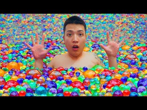 NTN - Thử Tắm Với Một Triệu Hạt Nở (Take a shower with 1 million Orbeez) - Thời lượng: 25:57.