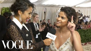 Selena Gomez on Her Faith and Her Queen Esther Inspired Dress | Met Gala 2018 With Liza Koshy