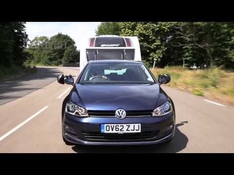 The Volkswagen Golf 2.0 TDI 150 GT DSG tow car review from Practical Caravan