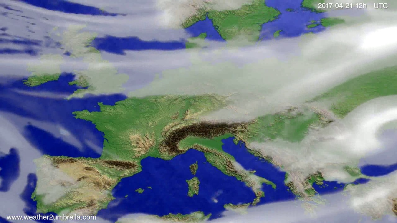 Cloud forecast Europe 2017-04-17