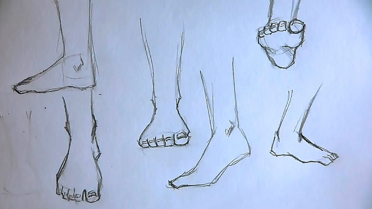 foot drawing tutorial