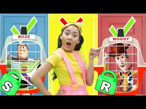 Ellie Learns Alphabet Letters with Toy Story 4 Jail in ABC Compilation