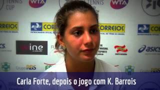 Carla Forte conta sua primeira experiência em WTA