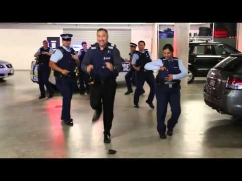 New Zealand Police Take On The Running Man Challenge