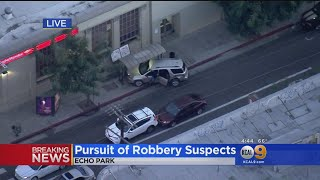 Armed Robbery Suspects Lead Police On High-Speed Chase Across LA