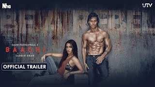 Baaghi Movie Trailer HD, Tiger Shroff, Shraddha Kapoor