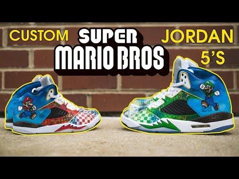 How to Customize a Jordan 5   Super Mario Bros Theme