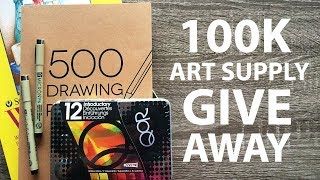 100K ART SUPPLY GIVEAWAY - Draw To Enter!
