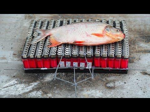 NTN  - Thử Nướng Cá Bằng 300 Chiếc Bật Lửa (Roasting fish by 300 lighters) - Thời lượng: 10:27.