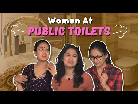 Types Of Women Waiting Outside Toilet | Captain Nick