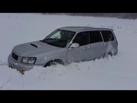 Subaru Forester XT STI 2.0 Turbo - Snow off-road!!! (видео)