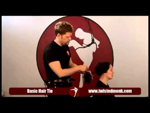 The basics of hair bondage with Twisted Monk