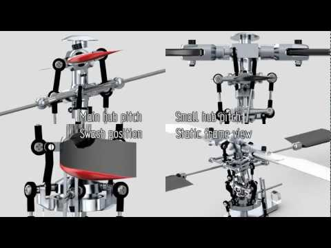 Helicopter Rotor Animation: Hiller-Bell mechanism