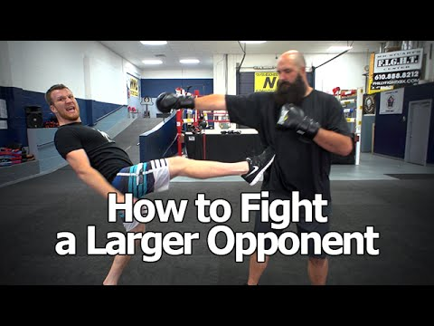 How to Fight Someone Bigger and Stronger Than You - The Trick To Beating Larger Opponents