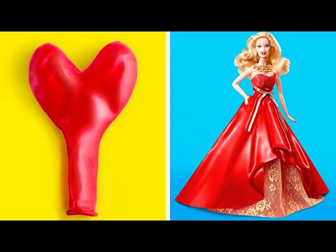 Funny Crafts For Your Barbie || 34 Ways To Transform Your Doll's Life!